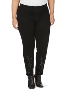 Beme Slim Leg Embroidered Jegging
