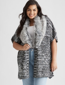 Beme Elbow Sleeve Multi Yarn Cardigan
