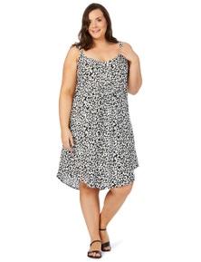 Beme Slvless Animal Midi Dress