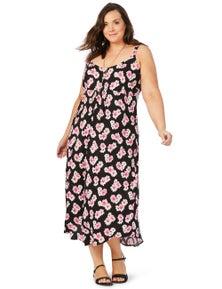 Beme Slvless Daisy Maxi Dress