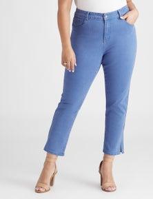 Beme Short Leg Slim Blue Jean