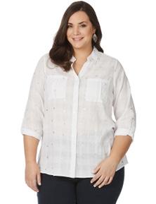 Beme 3/4 Sleeve Foil Triangle Shirt