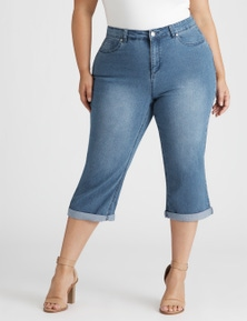 Beme The Secret Shaper Roll Hem Crop