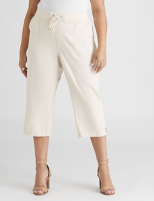 Beme Poplin Pull On Crop Pant