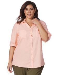 Beme 3/4 Sleeve Apricot Shirt