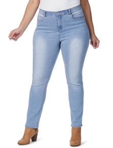 Beme Regular Length Slim Light Wash Jeans