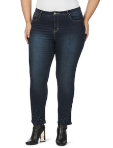 Beme Slim Leg Regular Length Diamonte Jeans