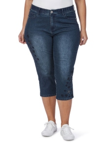 Beme 3/4 Star Embroidered  Jean