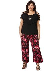 Beme Regular Wide Length Layered Pant