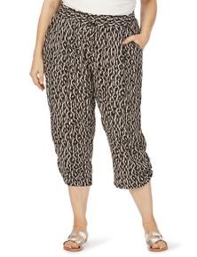 Beme 3/4 Tie Hem Mono Animal Soft Pant