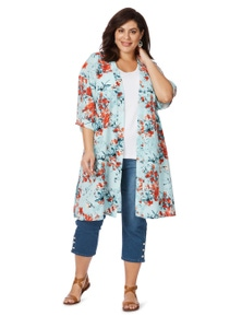 Beme 3/4 Sleeve Oriental Cover Up