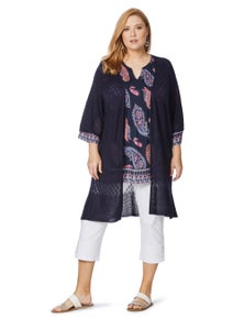 Beme Elbow Sleeve Knit Cover Up