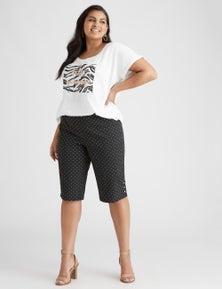 Beme Knee Length Spot Bengaline Short