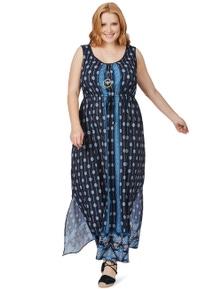 Beme Sleeveless Placement Maxi Dress