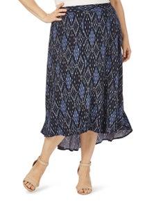 Beme Midi Ikat Skirt