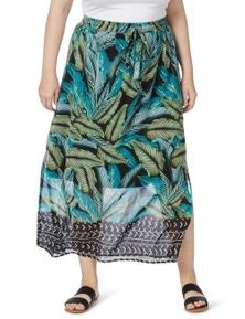 Beme Midi Leaf Skirt