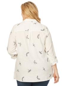 Beme 3/4 Sleeve Dragonfly Shirt