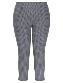 Beme Ankle Length Tapered Geo Bengaline Pant