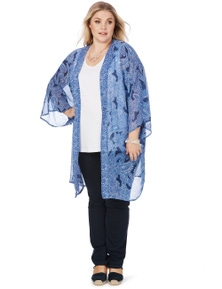 Beme 3/4 Sleeve Lace Kimono