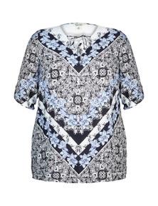 Beme 3/4 Sleeve Print Tunic