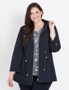 Beme Long Sleeve Hooded Rain Jacket