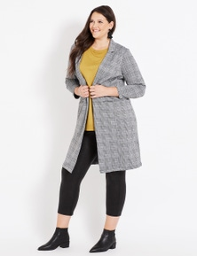 Beme Long Sleeve Jacquard Knit Coat