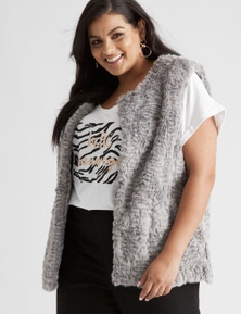 Beme Sleeveless Fur Vest