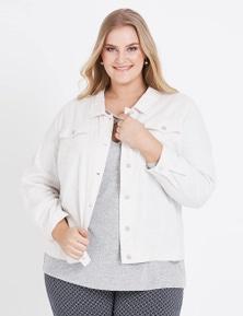 Beme Long Sleeve Linen Blend Jacket