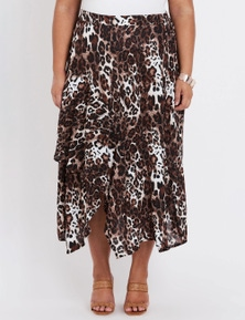 Beme Ruffle Midi Skirt