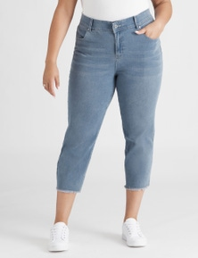 Beme 7/8 Raw Hem Light Wash Jean