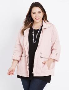 Beme Long Sleeve Pink Rain Jacket