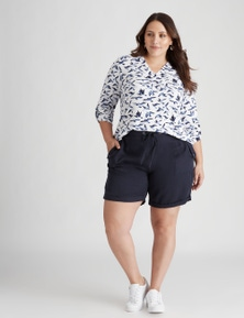 Beme Mid Thigh Lyocel Light Wash Short