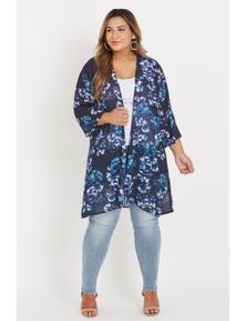 Beme 3/4 Chiffon Kimono