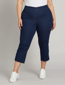 Beme 7/8 Luxe Pull on Side Split Jean