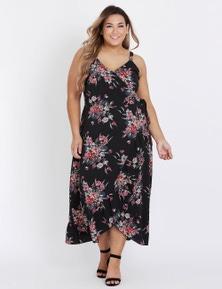 sleeve less ruffle dress