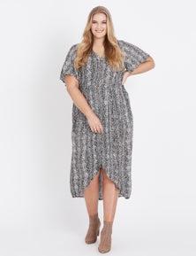 Beme Short Sleeve Midi Dress