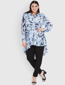 Beme long sleeve layered top