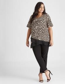 Beme Bengaline Slim Pant Short Length Pant