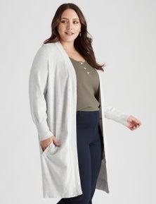 Beme long sleeve longline cardigan