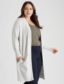 Beme long sleeve longline cardigan