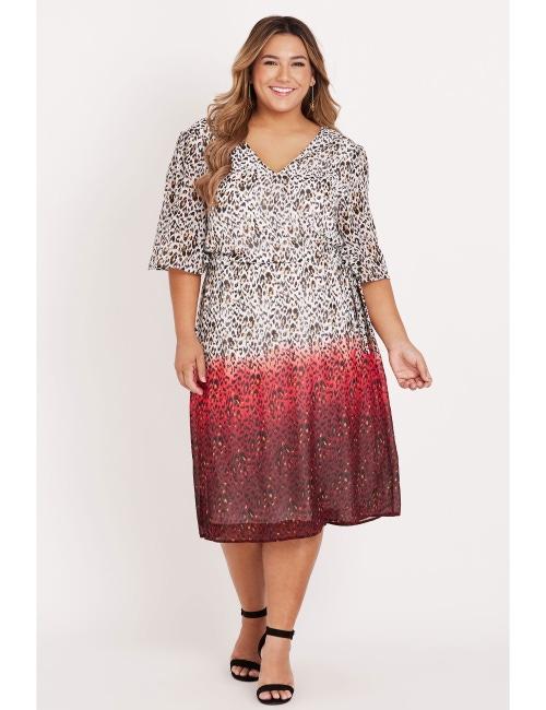 Beme Animal Ombre Dress