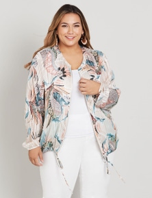 Beme 3Q sleeve zip frt bomber jacket
