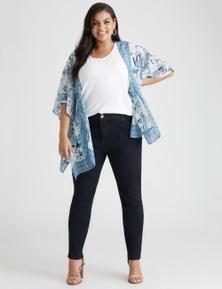 Beme elbow sleeve short kimono