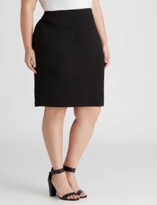 Beme knee length pencil jersey skirt