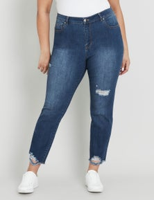 BEME ANKLE LENGTH DISTRESSED JEANS