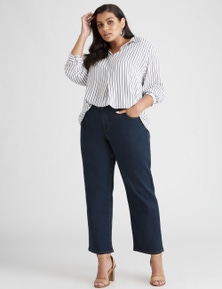 Curve Society Sophie Straight Leg Short Jean