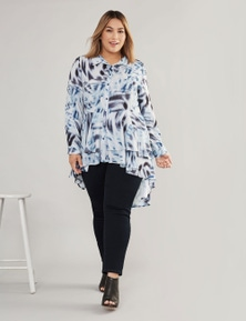 CURVE SOCIETY LONG SLEEVE LAYERED TOP