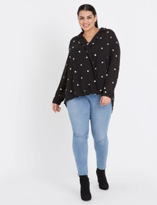 BEME LONG SLEEVE BUBBLE WRAP TEXTURED TOP