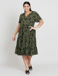 BEME S/S FLOUNCE DRESS