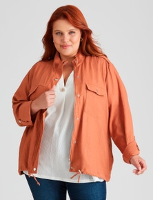 Beme Long Sleeve Cropped Soft Utility Jacket